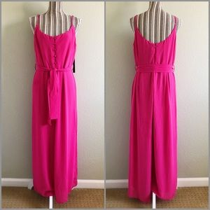 Lulus NWT Long Jumpsuit with Tie Waist XL